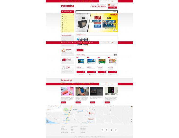 Website Điện Máy Chí Khoa