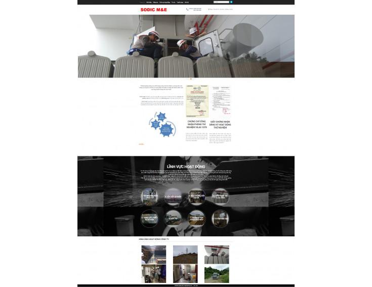 Website Công ty cổ phần điện Sông Đà Sodic