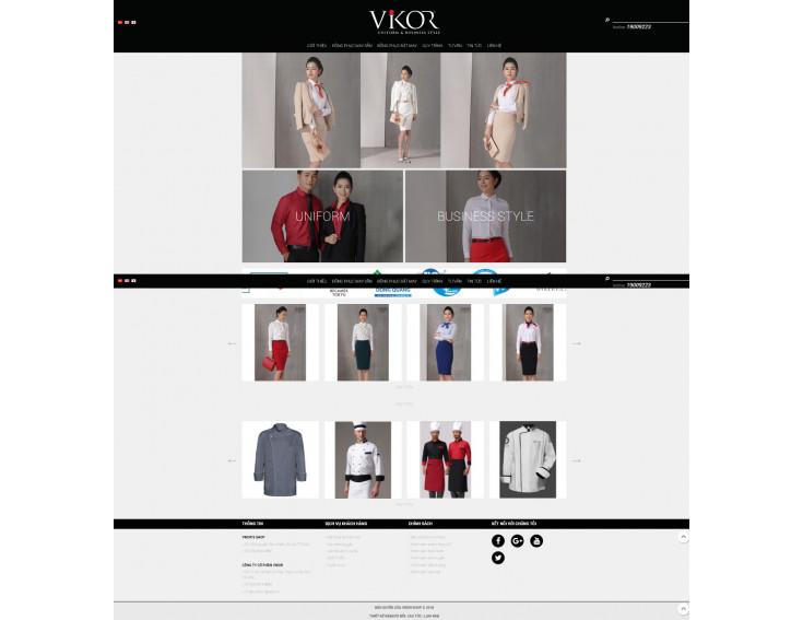 Website Vikor Shop