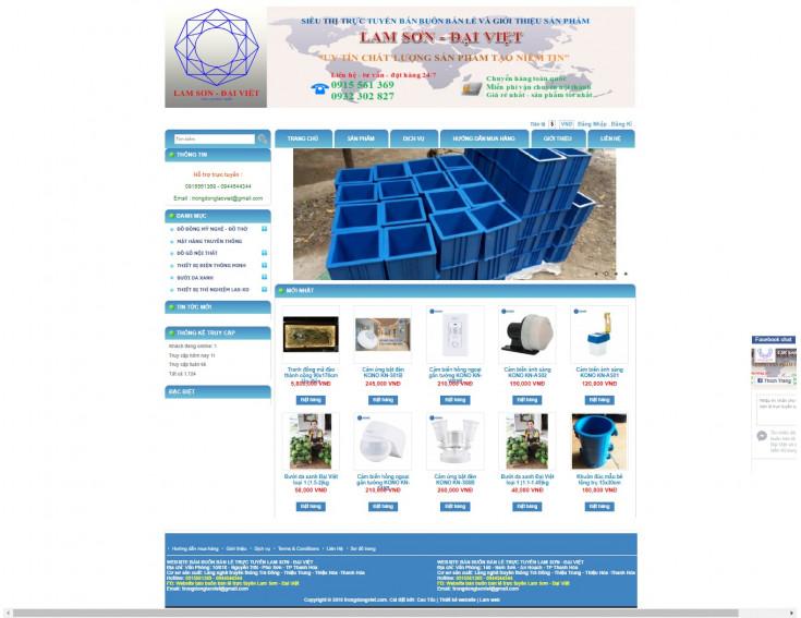 Website Bán Buôn Bán Lẻ  Trực Tiếp Lam Sơn - Đại Việt