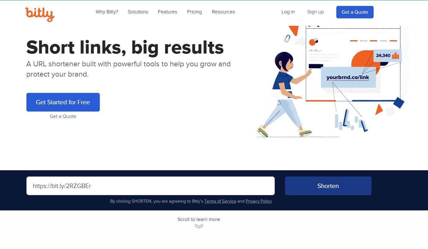 Trang rút gọn link của Bit.ly