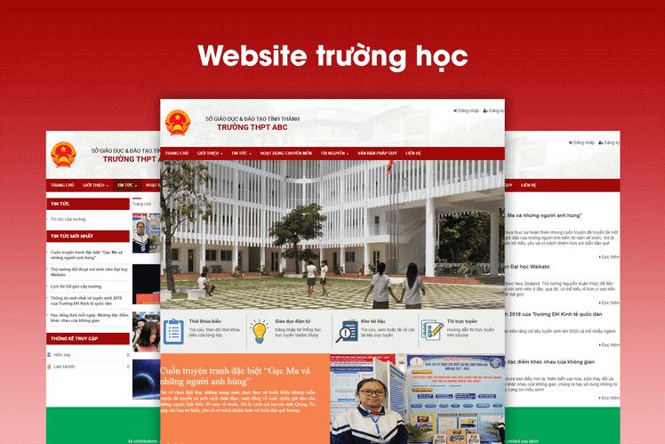 Nhiều đơn vị Giáo dục sử dụng mẫu website trường học – giáo dục