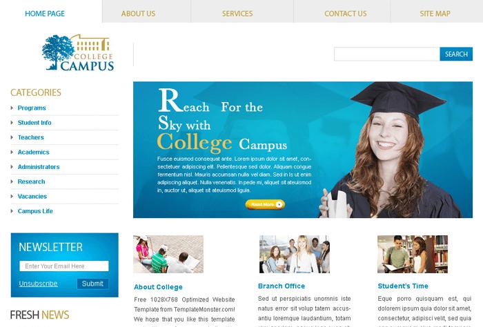 Mẫu website trường học – giáo dục mang dấu ấn riêng