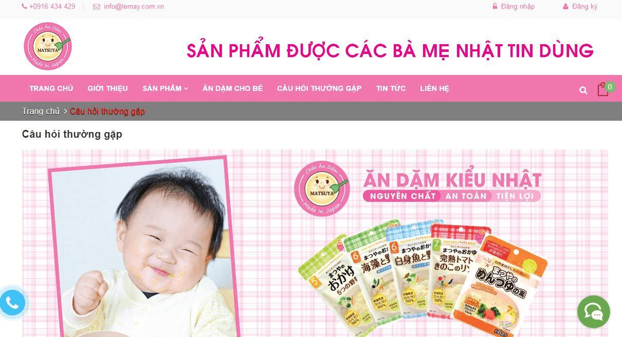 Website mẹ và bé tăng độ tin cậy của khách hàng với doanh nghiệp