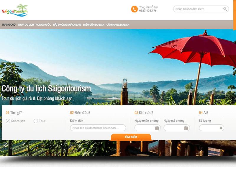 Website dịch vụ du lịch đẹp mắt kết hợp tính năng hiện đại