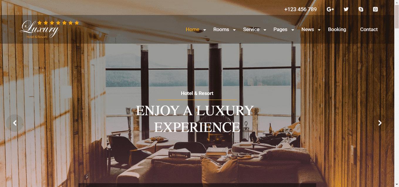 Website nhà hàng khách sạn