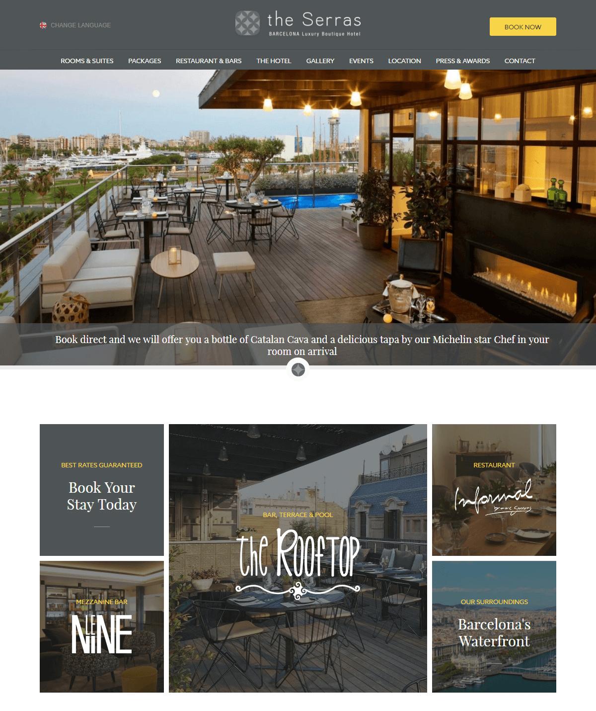 Website nhà hàng khách sạn mang lại hình ảnh chân thực