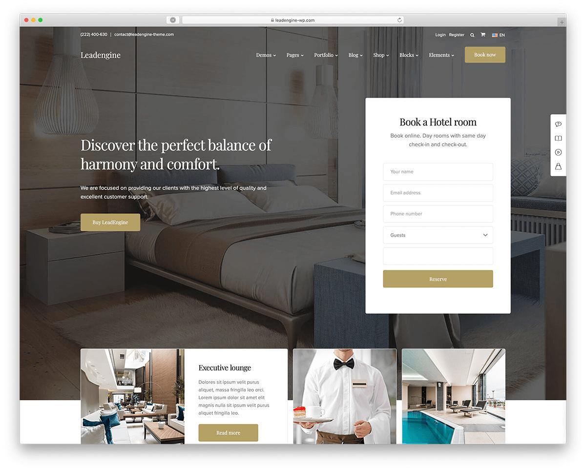 Website nhà hàng khách sạn hỗ trợ đặt dịch vụ nhanh chóng