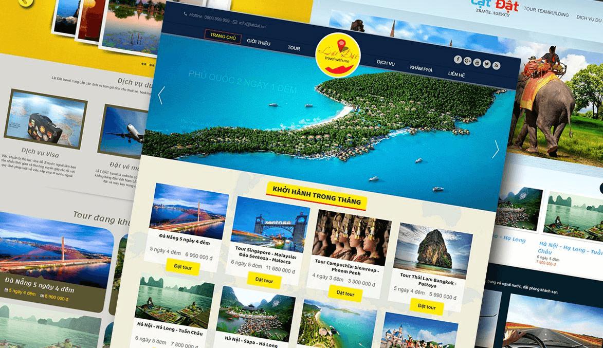 Mẫu thiết kế website dịch vụ du lịch đẹp mắt