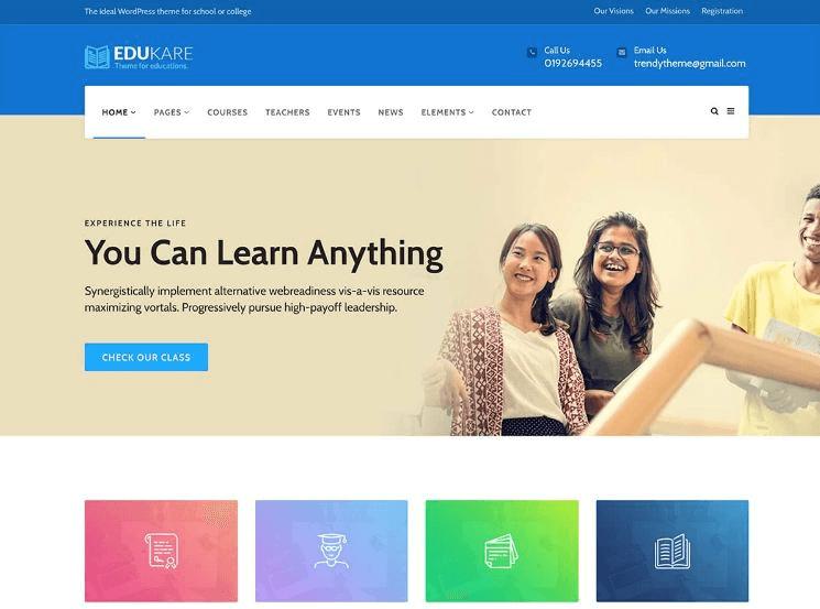 Cần sở hữu một Website giáo dục - trường học