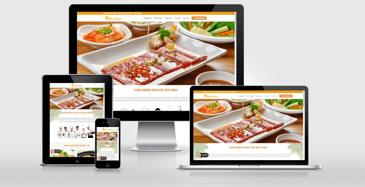 Website nhà hàng khách sạn thân thiện
