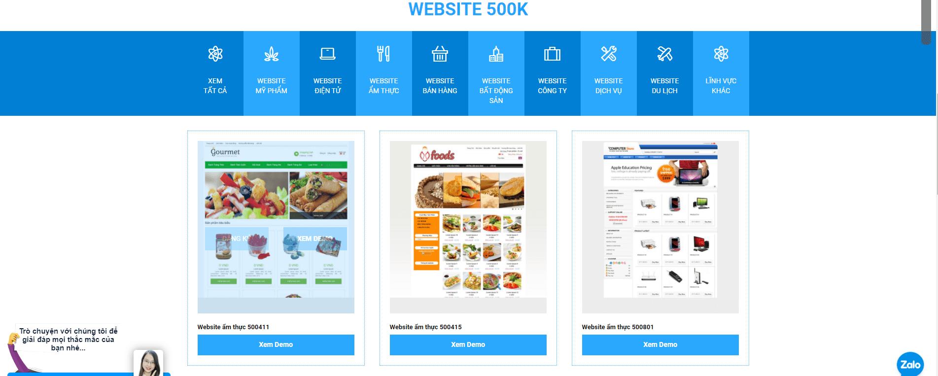 Website demo tại OMNIS