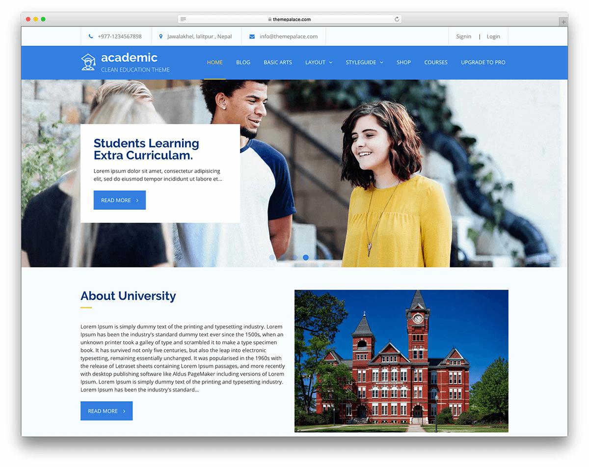 Website giáo dục hiện đại và chất lượng
